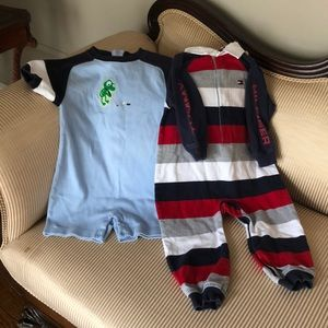 Lot of 2 Boys 18-24 Mo. One Pc Outfits